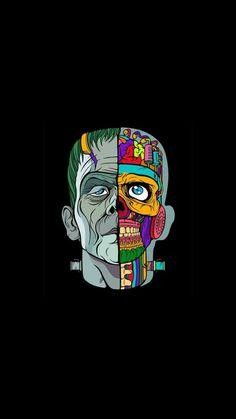 Skull ART Amazing Wallpapers – DDWallpaper Source by dailychanel Cartoon Wallpaper, Tumblr Wallpaper, Black Wallpaper, Cool Wallpaper, Wallpaper Backgrounds, Arte Dope, Dope Art, Cellphone Wallpaper, Iphone Wallpaper