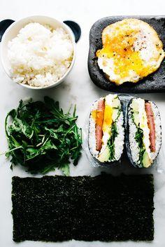 Spam and Egg Onigirazu (Japanese Rice Sandwiches)   iamafoodblog.com