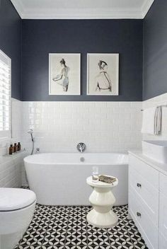 Thrill Your Site visitors with These 30 Cute Half-Bathroom Styles Fifty percent . - Thrill Your Site visitors with These 30 Cute Half-Bathroom Styles Fifty percent Washroom Ideas-Your - Bathroom Styling, Bathroom Interior Design, Ideas Baños, Decor Ideas, Tile Ideas, Bad Styling, Bathroom Renos, Bathroom Remodeling, Bathroom Grey