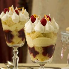 Holiday English Trifles Recipe from Taste of Home -- shared by Bonnie Cameron of Colbert, Washington