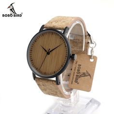 BOBO BIRD E19 Men's Cool Designer Green Hour Hands Bamboo Wooden Watches Real Leather Bands Watches for Men from Reliable watch for suppliers on BOBO BIRD Offical Store