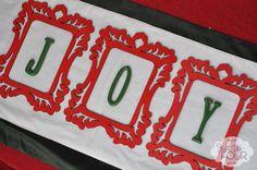 Good idea for a card with Cricut. Christmas Decorations: Frames of Joy - Just Us Four