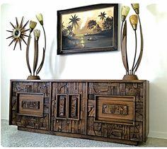 paul brutalist credenza dresser by lane furniture co via