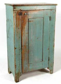 See 866 prices and auction results for Americana & Fine Antiques Auction on Sat, Nov 2018 by Jeffrey S. Evans & Associates in VA Primitive Furniture, Old Furniture, Cabinet Furniture, Vintage Furniture, Evans, Southern Furniture, Light Blue Paints, Country Cupboard, Painted Cupboards