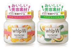 【10/24発売 whip W】ふわっ!ホイップみたいなクリームでボディ&フェイスをうるおして Label Design, Packaging Design, Graphic Design, Pop Stickers, Creamed Honey, Waterproof Stickers, Health And Wellbeing, Signage, Promotion