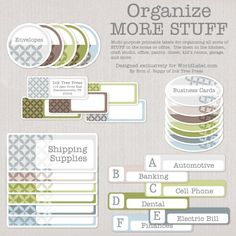 organizing labels