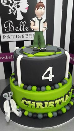 Ben10 is always a great theme for a boy's birthday party - by Belle's Patisserie