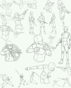 Drawing reference guns and stances