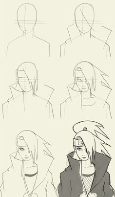 How to draw Deidara from Naruto Manga