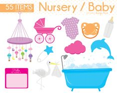 Baby Clipart, Baby Shower Clipart, Baby Nursery clipart, Baby Boy, Baby girl, invitation, Baby Tees, Safety Pin, Stars, Baby Bottle, CS0004 by Sweetdesignhive on Etsy Baby Shower Clipart, Clipart Baby, Baby Clip Art, Hello My Name Is, Baby Bottles, Baby Boy, Nursery, Invitations, Boys