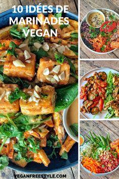 Entree Vegan, Menu Vegan, Vegan Vegetarian, Vegetarian Recipes, Healthy Recipes, Vegan Recepies, Vegan Sauces, Marinade Tofu, Plat Vegan