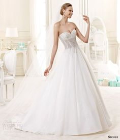 I Normally Prefer Non Strapless But This Is So Pretty Nicole Spose Bridal
