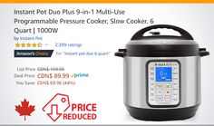 Instant Pot Ip Duo, Pots, Slow, Electric Pressure Cooker, Rice Cooker, Kitchen Appliances, Diy Kitchen Appliances, Home Appliances, Kitchen Gadgets