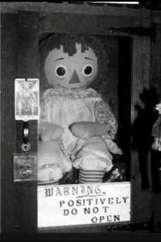 The Annabelle Doll is one of the most unusual cases of a possessed object on record. In 1970, a mother purchased the antique in a 2nd hand store for her daughter Donna. Donna and her room mate began to notice the doll was strange. They would come home to find the doll in a completely different room from which they had left it. Donna sought help after finding blood on the back of the doll's hands and chest and a friend said that he had woken up one night to the doll strangling him.
