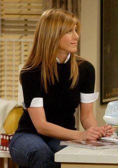 "Rachel Green in ""Friends""... Love her hair like this!!!"