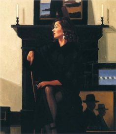 Model in Black - Jack Vettriano