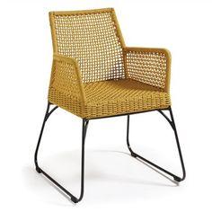 Set of 2 Burnett Indoor/Outdoor Armchairs - Yellow