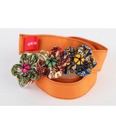 orange batik belt