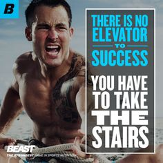 """""""There is no elevator to success, you have to take the stairs."""" #Challenge #Success #Training #Motivation"""