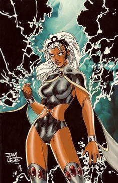 Storm by Jim Lee. Colors by R. Storm Xmen, Storm Marvel, Hq Marvel, Marvel Comic Universe, Marvel Comics Art, Marvel Heroes, Mundo Marvel, Comic Book Characters, Marvel Characters