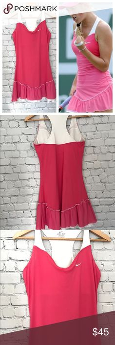 {Nike} Victoria Azarenka Flirty Ruffle Dress Great used condition! Worn by Victoria Azeranka. Check out my other listings for Nike items to bundle! Nike Dresses