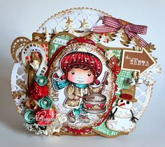 From our Design Team! Card by Alexandra Morein featuring Drummer Boy Luka and these Dies - Christmas Hill Border, Lattice Doily Border, Stitched Elements, Build a Snowman :-) Shop for our products here - shop.lalalandcrafts.com  Coloring details and more Design Team inspiration here - http://lalalandcrafts.blogspot.ie/2014/11/inspiration-friday-holidays-are-coming.html