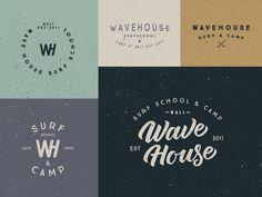 Wave House Logo by Alex Spenser Malibu Surf, Surf Logo, Home Logo, Corporate Design, Letter Logo, Logo Branding, Logos, Hand Lettering, Logo Design