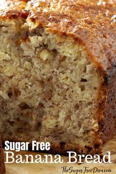 Banana Bread that has no added sugar in it. # diabetic desserts This recipe for Sugar Free Banana Bread is really delicious. Diabetic Deserts, Diabetic Food List, Diabetic Friendly Desserts, Healthy Snacks For Diabetics, Diabetic Recipes, Cakes For Diabetics, Diabetic Bread, Banana Recipes For Diabetics, Recipes For Bananas