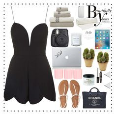 """""""Simple outfit☺️"""" by elma02 on Polyvore featuring Rare London, Balenciaga, Sonam Life, Native Union, Fuji, Vinyl Revolution, Nearly Natural, New Look, Jennifer Meyer Jewelry and Chanel"""