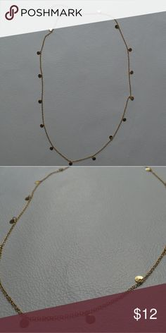 "Brand New Minimalist Dainty Gold Long Necklace Gorgeous minimalist design circle coin charm necklace. Shiny gold dainty chain adds sparkle to any outfit! Chain adjusts from 24-27"". Jewelry Necklaces"
