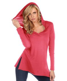 Another great find on #zulily! Watermelon Hooded Tunic by TROO #zulilyfinds