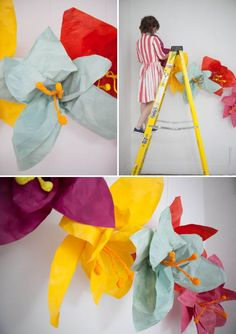 Giant Flower Photo Backdrop DIY | Oh Happy Day!