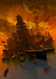 Armada, artwork by Franco Brambilla