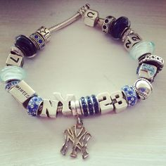 Yankees Chamilia bracelet from Marie's Jewelry