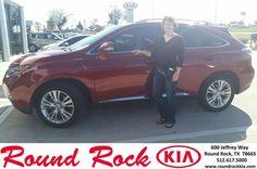 https://flic.kr/p/DEwTos | Happy Anniversary to Tiffany  on your #Lexus #RX 450h from Sean Knox at Round Rock Kia! | deliverymaxx.com/DealerReviews.aspx?DealerCode=K449