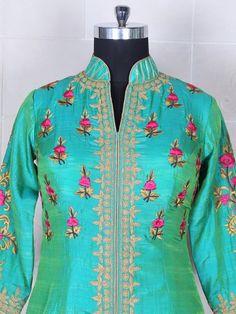 Silk Dhupchav Green Salwar Suit Product Code: G3-WSS20019 Fabric: Silk Color: Green