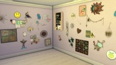 CLUTTER YOUR WALLS at Leo Sims via Sims 4 Updates