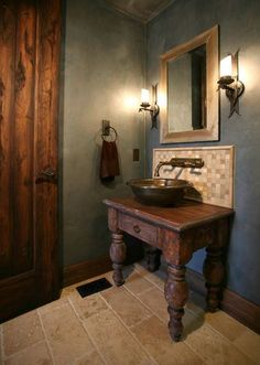 Maybe it's because bathrooms are typically sleek and sterile environments, or maybe it's because we WANT them to be so. Bathroom vanities are a perfect pla