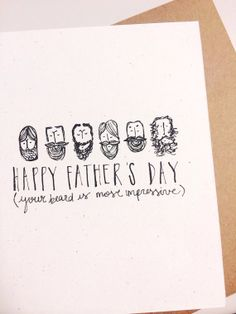 Handmade and hand lettered father's day card, by deerohdeardesigns on Etsy, $5.00
