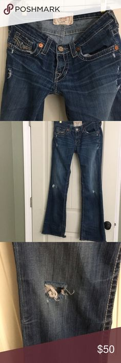 BIG STAR WOMENS JEANS These are well loved, one of my favorites the bottoms are pretty bad but holes are from the factory. Size 29L Big Star Jeans