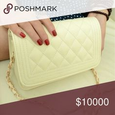 Cream Crossbody Super cute small crossbody bag! unknown  Bags Crossbody Bags