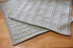Vintage knitting free patterns, gratis breipatronen onder andere jaren 70 patronen: Babydekentje breien makkelijk patroon ook voor beg...