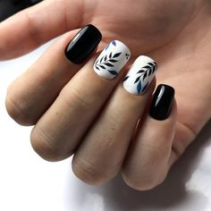 Semi-permanent varnish, false nails, patches: which manicure to choose? - My Nails Latest Nail Designs, Creative Nail Designs, Beautiful Nail Designs, Beautiful Nail Art, Creative Nails, Nail Art Designs, Black Nail Art, Black Nails, Winter Nails