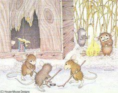 """Monica, Mudpie, Maxwell, Muzzy and Amanda featured on The Daily Squeek® for Sept. 10th, 2014. Click on the image to see it on a bunch of really """"Mice"""" products."""