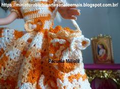 Vestido dA Bela e a Fera em Crochê Para Bonecas com Passo a Passo de Pecunia MillioM 8