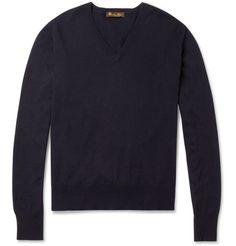 Loro PianaSilk and Cashmere-Blend V-Neck Sweater|MR PORTER