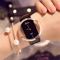 Shop & Buy Hot Fashion Women Watch Luxury Leather Skeleton Strap Watch Women Dress Watch Casual Quartz Watch Reloj Mujer Wristwatch Girl Online from Aalamey Trendy Watches, Casual Watches, Cool Watches, Watches For Men, Women's Watches, Wrist Watches, Watches Online, Ladies Watches, Black Watches