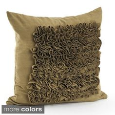TEAL Shop for Ruffled Design 17-inch Feather Filled Throw Pillow. Get free shipping…
