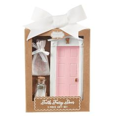 Tooth Fairy Door with Fairy Dust and Tooth Pouch