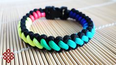 How to Make a Rainbow Curling Millipede Paracord Bracelet Tutorial